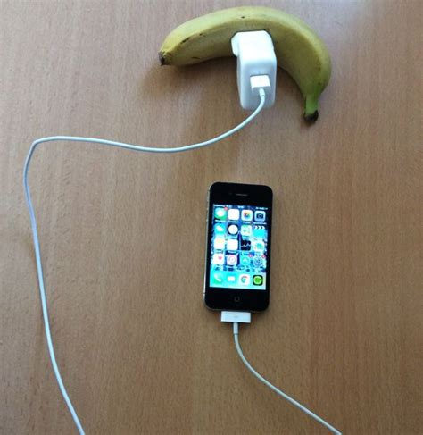 charge your phone charge his phone with with a fruit all