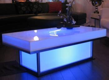 Light Up Coffee Table by Las Vegas Light Up Coffee Table Blue