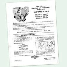 Briggs Amp Straton Industrial Engine Manual And Book Ebay