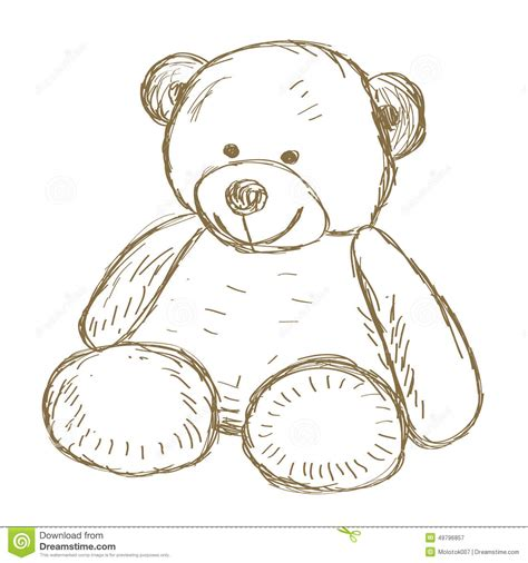 doodle drawing illustrator teddy doodle vector stock vector illustration of