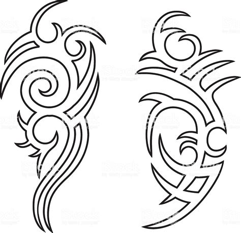 outline tribal tattoo tribal outlines stock vector more images of