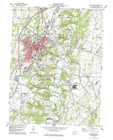 map of martinsburg wv martinsburg topographic map wv usgs topo 39077d8