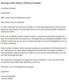 Complaint Letter Exle For Late Delivery Business Letter Apology For Delay The Best Letter Sle