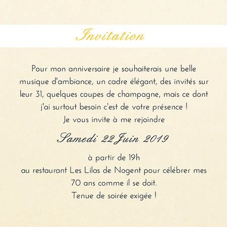 carte d invitation anniversaire sobre