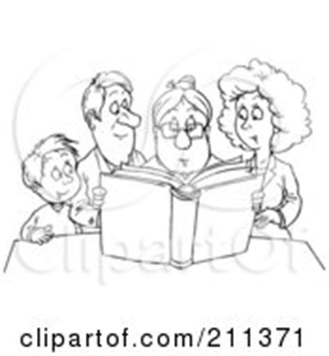 family reading coloring page clipart happy father holding his little girl as she rings