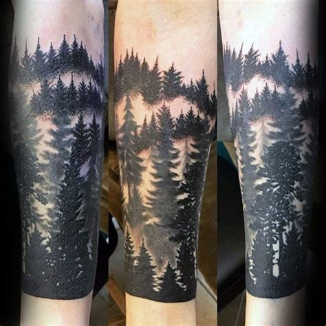quarter sleeve forest tattoo 100 forest tattoo designs for men masculine tree ink ideas