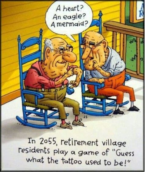 tattoo cartoon jokes quot in 2055 retirement village residents play a game of