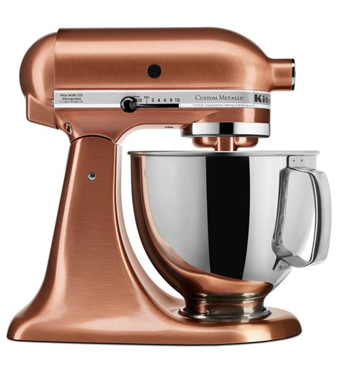 Satin Copper Kitchenaid Mixer by Custom Metallic 174 Series 5 Quart Tilt Stand Mixer
