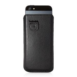Iphone 5 Premium Backcase Look Leather Tpu snugg iphone 5s 5 faux leather pouch black