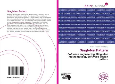software design pattern singleton singleton pattern 978 620 0 92854 2 6200928541