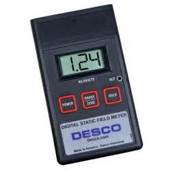 meter to desco 19492 digital static field meter