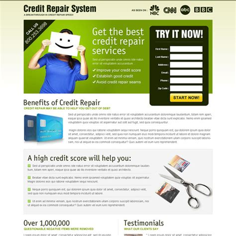 Credit Repair Business Plan Template Credit Repair Landing Page Design Template To Boost Your Credit Repair Business Page 3