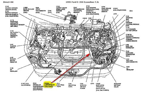 where is the fuel pump relay switch on a 1995 ford e 350 7 3l engine