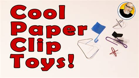 How To Make Cool Paper Toys - cool paper clip toys