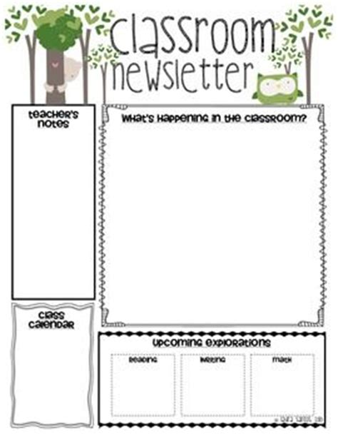 classroom newsletter classroom and newsletter templates
