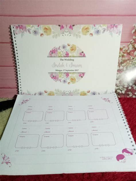 Guest Book Wedding Buku Tamu Custom wow sorry jangan buang uang buat 11 pernik resepsi ini toh tamumu nggak peduli kaaget