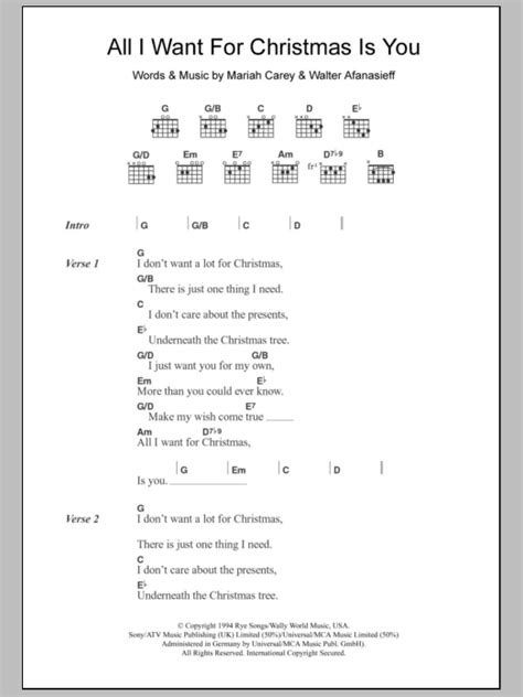 All For You Guitar Chords