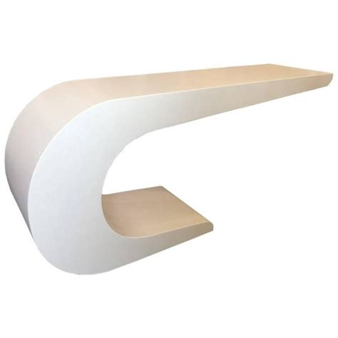 c shaped sofa table newly lacquered c shaped console table in the style of