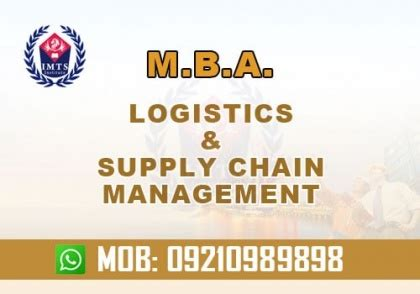 Mba In Supply Chain Management Distance Learning India by Mba In Logistics And Supply Chain Management 9210989898