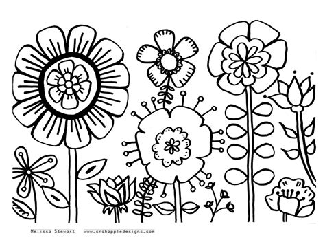 Flower Design Coloring Pages at home with crab apple designs november 2011