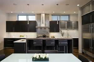 How To Paint Tile Backsplash In Kitchen frameless cabinets contemporary kitchen aimee kim