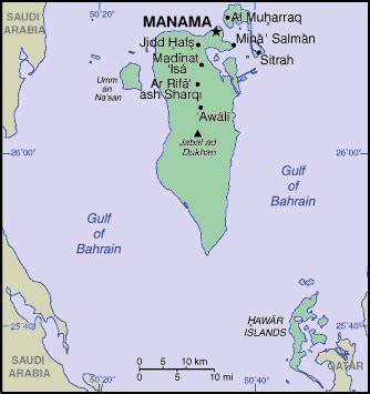 where is bahrain on a world map bahrain asia