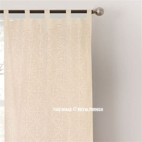 sheer white cotton curtains white cutwork design sheer cotton curtains set of 2