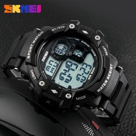 Jam Tangan Pria Elegan Skmei Casio Fashion 2010 skmei jam tangan digital pria dg1118 black white jakartanotebook