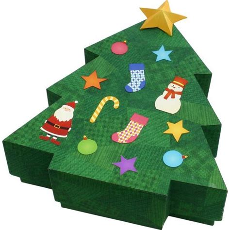 canon papercraft christmas tree candy box free template