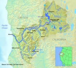 klamath oregon map klamath river american rivers