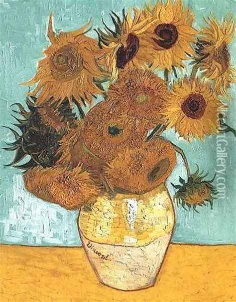 vincent gogh vase with twelve sunflowers vase with twelve sunflowers painting reproduction by