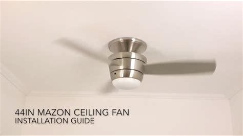 original mazon 44 in ceiling fan youtube