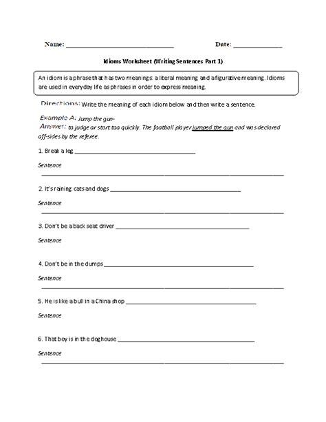 idiom worksheets idiom worksheets pdf worksheets for school dropwin