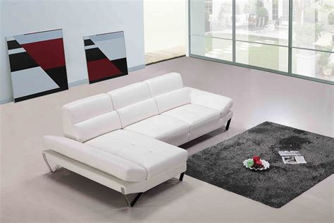 white modern leather sectional apache modern white leather sectional sofa