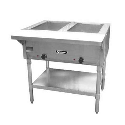 adcraft st 120 2 33 quot steam table 2 well food warmer ebay