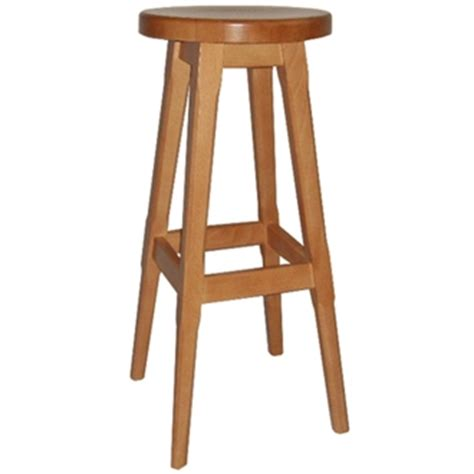 Wooden High Stool Wooden Padded Kitchen Breakfast Bar Stools Wooden Frame