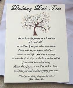 wishing tree tags sign wedding bridal shower wedding weddings