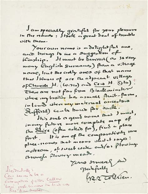 Letter Hobbit tolkien handwritten letter with j r r tolkien signature