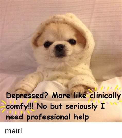 Help No Seriously I Need Help depressed more like clinically comfy no but seriously