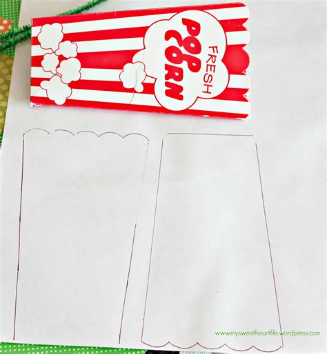 popcorn container template a friendly frankenstein design project hop my