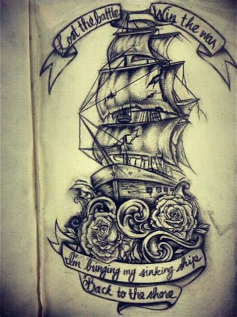 tattoo rose lyrics amazing ship tattoo with roses and scrolls words aren t