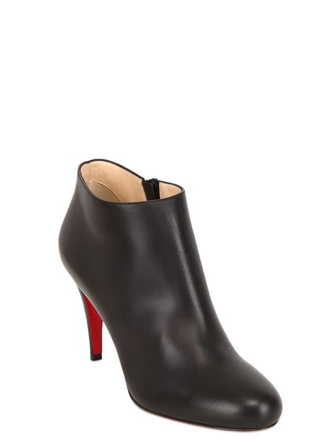 louboutin boots lyst christian louboutin 85mm calf leather ankle