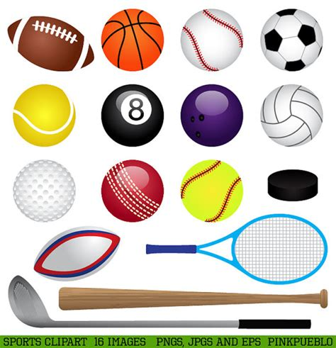 sports clipart sports clipart clip basketball baseball football golf