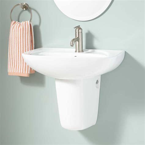 wall mount pedestal sink abrams porcelain wall mount semi pedestal sink wall