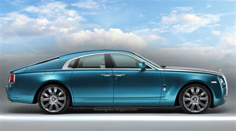 rolls royce wraith rendered as a four door coupe