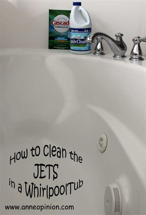 how to clean jets in a bathtub how to clean the jets in a whirlpool tub i want it to