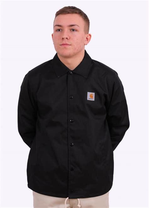 Carhartts Coach Jacket carhartt coach jacket black jackets from triads uk