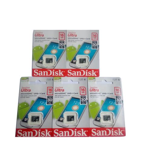 Micro Sd V 16 Giga sandisk 16 gb micro sd card pack of 5 buy sandisk 16 gb micro sd card pack of 5 at
