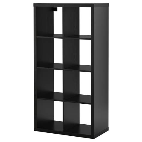kallax shelving unit black brown 77x147 cm ikea