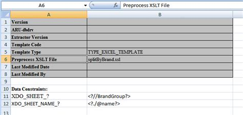 bi publisher data template exle creating excel templates